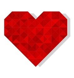 geometric polygonal heart vector image