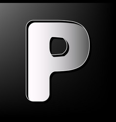 letter p sign design template element vector image
