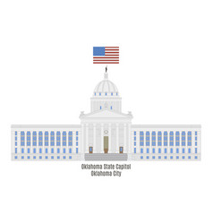 oklahoma state capitol vector image