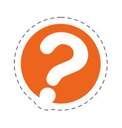 question mark communication image vector image vector image