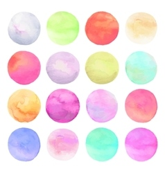 set drawn watercolor Isolated colorful vector image vector image