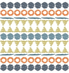 Aztec ethnic tribal seamless pattern vector image