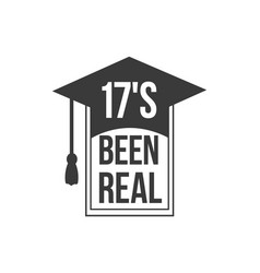 black colored 17s been real text sign with the vector image vector image