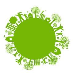 Eco Earth vector image vector image