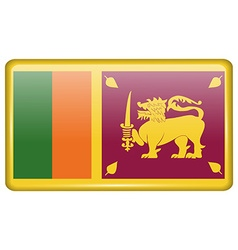 Flags Sri Lanka in the form of a magnet on vector image
