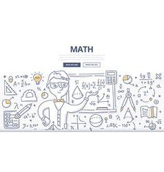 Math Doodle Concept vector image