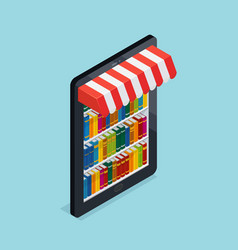 online bookstore isometric vector image