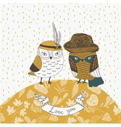 owl friends vector image vector image