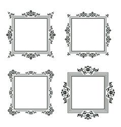 vintage frame set three vector image vector image