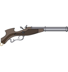 a historical pistol vector image vector image