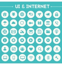 Big UI And Internet icon set vector image