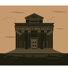 City buildings graphic template Italian basilica vector image vector image