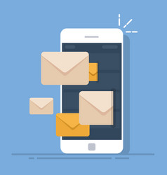 Dispatch of emails from a mobile phone mail vector