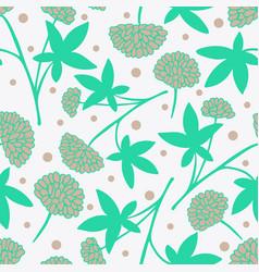 gentle flower seamless pattern vector image vector image