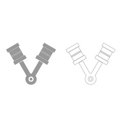 pistons the grey set icon vector image vector image