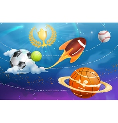 Sport universe background vector image