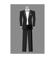 Wedding tuxedo icon gray monochrome style vector image