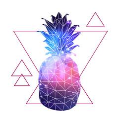 abstract polygonal tirangle fruit pineapple vector image