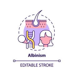 Albinism concept icon vector