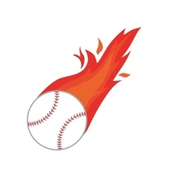 Ball fire baseball icon isolated vector