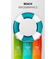 Beach infographics vector