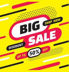 big sale shop now - concept banner vector image