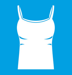 Blank women tank top icon white vector