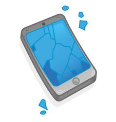 broken screen smartphone vector image