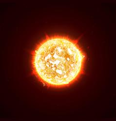 Burning realistic 3d sun flashes glare flare vector