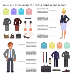 Business dress code infographic vector