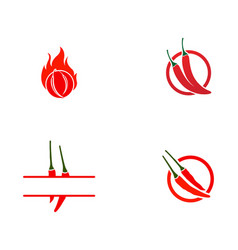 chilli template logo and symbol vector image