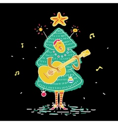 Christmas tree costume vector image