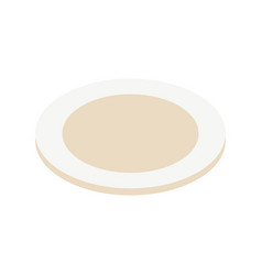 clean plate from kitchen icon isometric style vector image