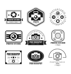 Collection of Photography Logo Templates vector
