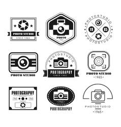 Collection photography logo templates vector