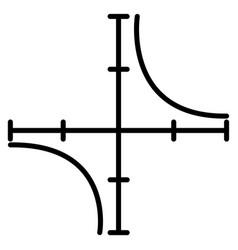 Coordinate axis line icon vector