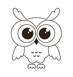 Cute owl icon isolated on white vector