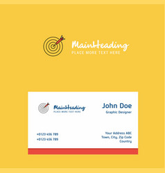 dart logo design with business card template vector image