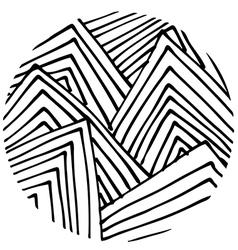 Doodle circle 3 vector