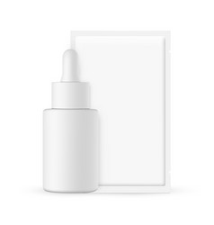 dropper bottle with cosmetic sachet isolated vector image