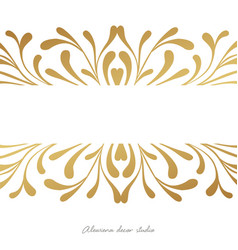 elegant card design witn hand drawn elements vector image