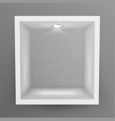 Empty show window niche abstract clean vector