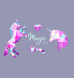 fairy tale geometric low poly style vector image