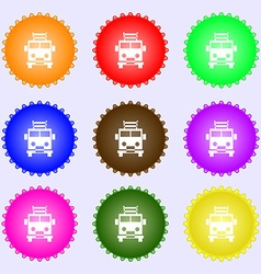 Fire engine icon sign Big set of colorful diverse vector image
