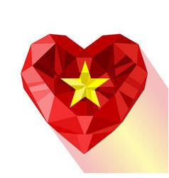 Flat style logo symbol of love vietnam vector