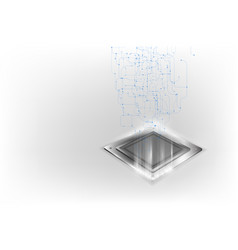 Future computer processor electronic technology vector