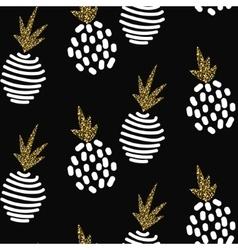 Glitter scandinavian ornament gold vector image