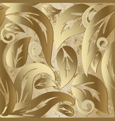gold vintage baroque 3d seamless pattern vector image