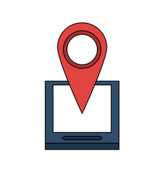 Gps location pin icon image vector