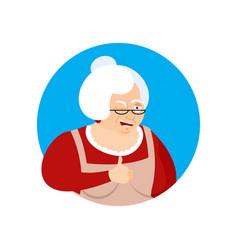 Grandmother thumbs up and winks emoji grandma vector